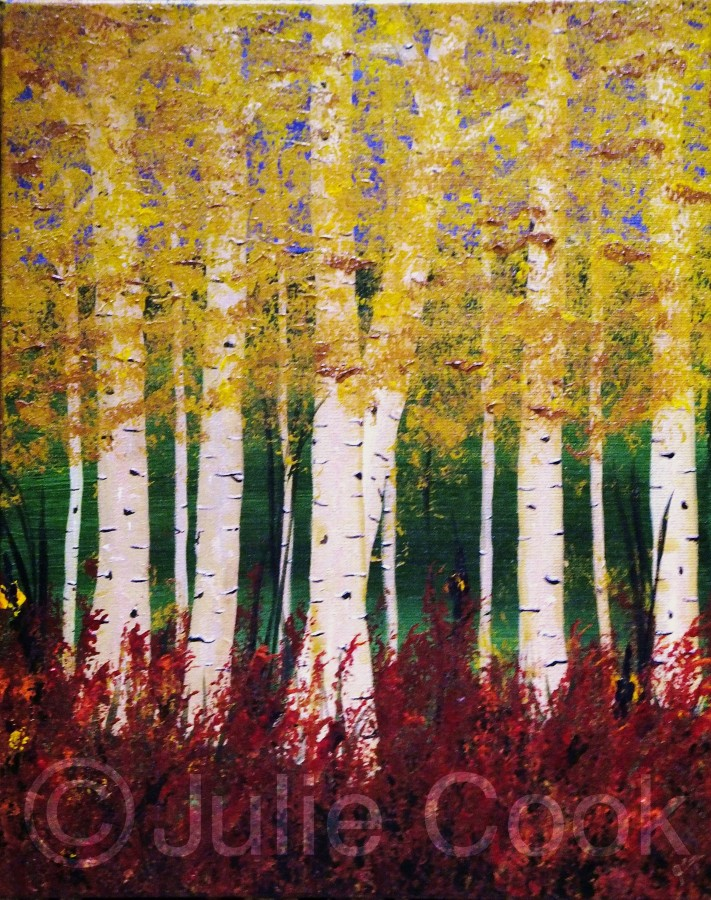 Birches Antiqued